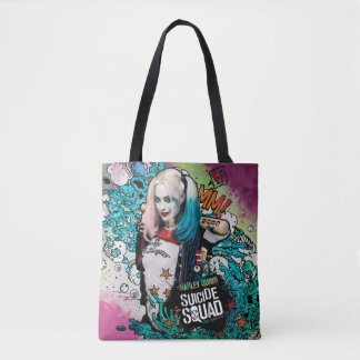 Tote Bag Graffiti de caractère du peloton | Harley Quinn de