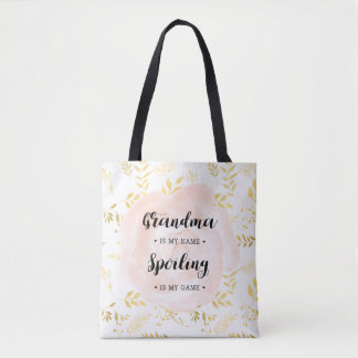 Tote Bag Grand-maman dans mon nom. Se corrompre est mon jeu