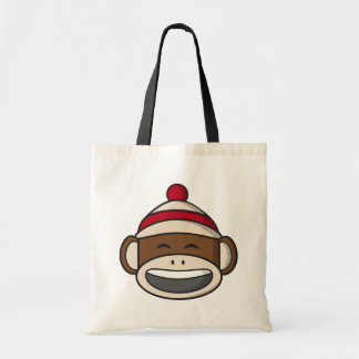 Tote Bag Grand singe Emoji de chaussette de sourire