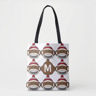 Tote Bag Grand singe Emoji de chaussette de sourire décoré
