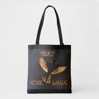 Tote Bag Grande citation bleue Fourre-tout