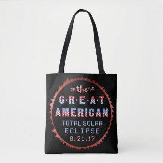 Tote Bag Grande éclipse solaire totale américaine le 21