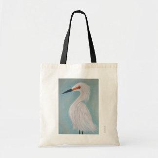 Tote Bag Grande peinture blanche de beaux-arts de héron
