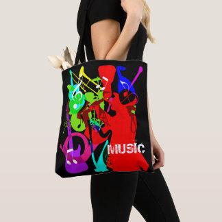 Tote Bag Graphique de musique de mélange d'instrument de