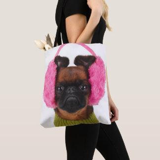 Tote Bag Griffon de Bruxelles avec les bouche-oreilles