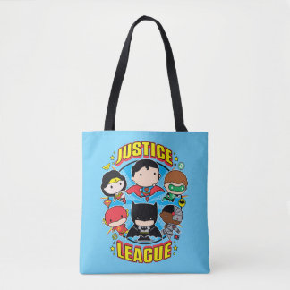 Tote Bag Groupe de ligue de justice de Chibi