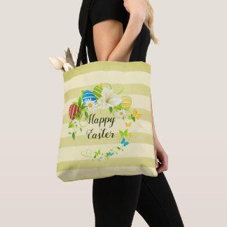 Tote Bag Guirlande de fleurs et de papillons de ressort