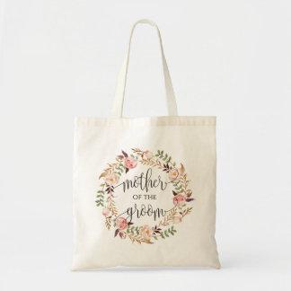 Tote Bag Guirlande florale, mère du marié, Calligraphy-3