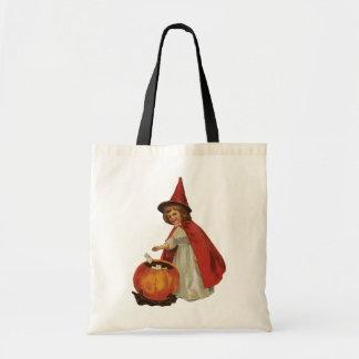Tote Bag Halloween démodé, fille de sorcière