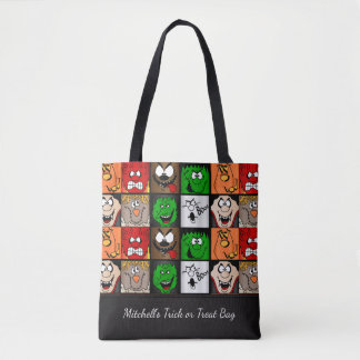 Tote Bag Halloween effrayant fait face