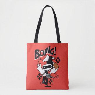 Tote Bag Harley-Quinn-Dans-UN-Box de Chibi avec le marteau