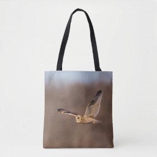 Tote Bag Hibou à oreilles courtes en vol
