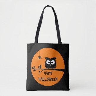 Tote Bag Hibou mignon de Halloween avec des couleurs