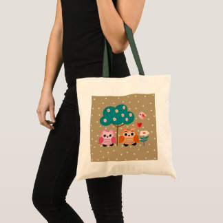 Tote Bag hiboux amusants
