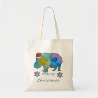 Tote Bag Hippopotame de Noël