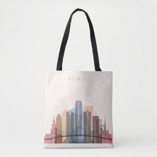 Tote Bag Horizon de ville de Detroit, Michigan |