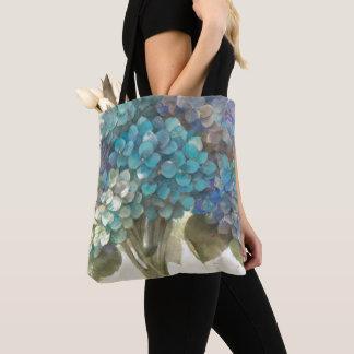 Tote Bag Hortensia de turquoise