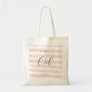 Tote Bag Huile essentielle Fourre-tout de rayure rose et