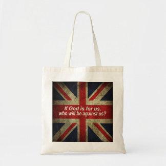 Tote Bag If God is for us Drapeau Anglais
