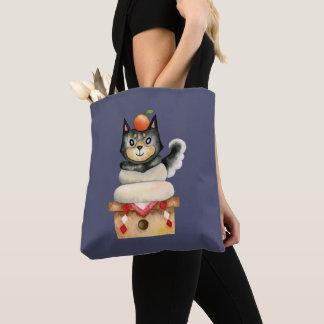 """Tote Bag Illustration d'aquarelle de chien de """"Mochi Shiba"""""""