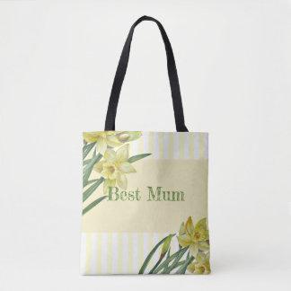 Tote Bag Illustration de portrait de fleur de jonquilles