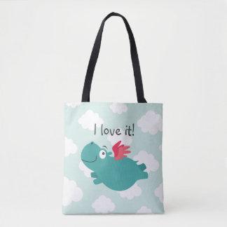 Tote Bag Illustration d'hippopotame de vol