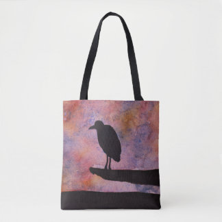 Tote Bag Illustration d'oiseau d'aquarelle