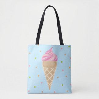 Tote Bag Illustration vintage de crème glacée