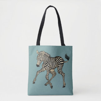 Tote Bag illustrations de zèbre et de renard