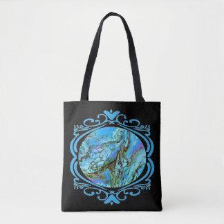 Tote Bag Imaginaire bleu Fourre-tout deux