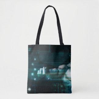 Tote Bag Interface futuriste avec l'utilisateur androïde de