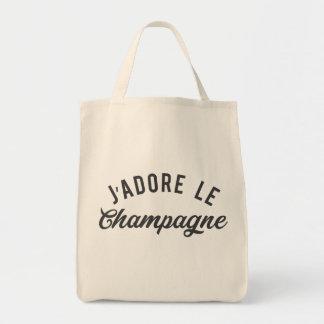 TOTE BAG J'ADORE LE CHAMPAGNE