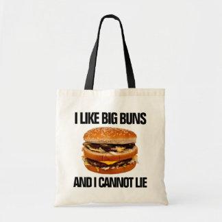 Tote Bag J'aime de grands petits pains et je ne peux pas me