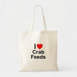 Tote Bag J'aime des alimentations de crabe de coeur