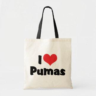 Tote Bag J'aime des Pumas de coeur