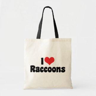 Tote Bag J'aime des ratons laveurs de coeur