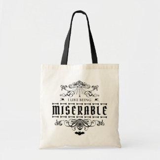 Tote Bag J'aime être graphique gothique malheureux de