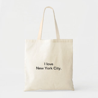 Tote Bag J'aime la conception de New York City