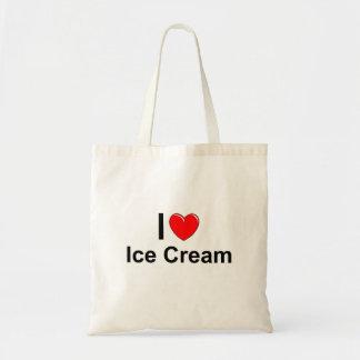 Tote Bag J'aime la crème glacée de coeur