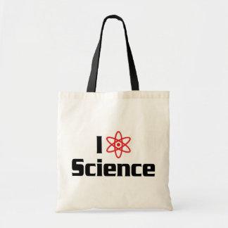 Tote Bag J'aime la Science de coeur - scientifique de