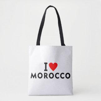 Tote Bag J'aime le pays du Maroc comme le tourisme de
