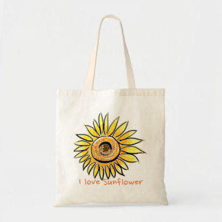 Tote Bag J'aime le tournesol