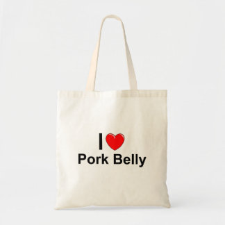 Tote Bag J'aime le ventre de porc de coeur