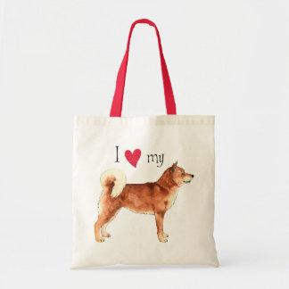 Tote Bag J'aime mon Shiba Inu