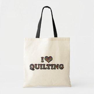Tote Bag J'aime piquer de coeur - Quilter de couture