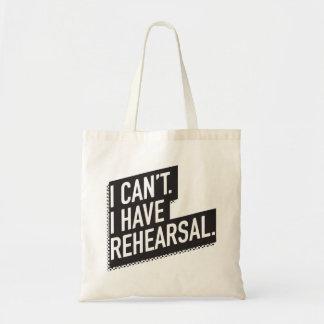 Tote Bag Je ne peux pas. J'ai la répétition. texte du bloc