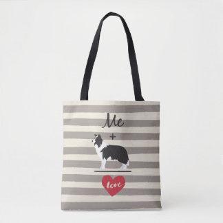 Tote Bag Je plus l'amour égal Fourre-tout mignon de border