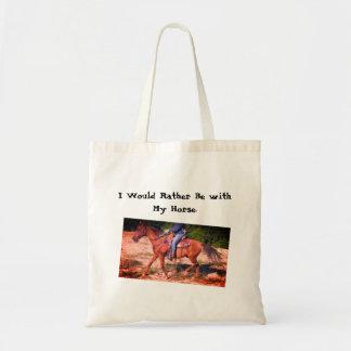 Tote Bag Je serais plutôt avec mon cheval