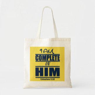 Tote Bag Je suis complet dans lui budget de dévotion