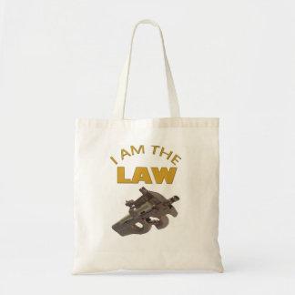 Tote Bag Je suis la loi avec une mitrailleuse m4a1